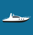 modern white boat for short distance cruises vector image vector image