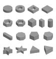 monochrome set geometric shapes platonic vector image vector image