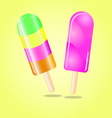 Multi flavour ice cream vector image vector image