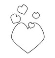 outlined hearts love vector image vector image
