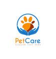 pet care circle logo icon symbols and app icon vector image vector image