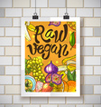 raw vegan vector image