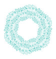 round wreath of green branches frame of delicate vector image vector image