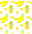 seamless pattern tropical ornament yellow bananas vector image