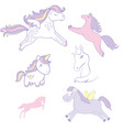 set collection of cute horses vector image vector image