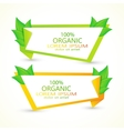 Set of banners with fresh green leaves Eco vector image