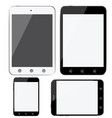 set of modern digital devices smartphones tablets vector image vector image