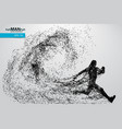 silhouette a running man from particles vector image