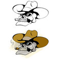 skull in a hat vector image