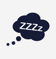 sleep icon vector image vector image
