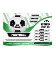 soccer poster design football ball flyer concept vector image vector image