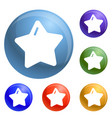star xmas icons set vector image