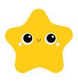 starfish toy icon big eyes claws cute cartoon vector image vector image