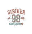 Striker emblem vector image vector image