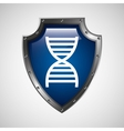 symbol DNA science molecule icon vector image vector image