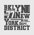 t-shirt print design brooklyn new york vector image vector image