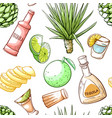 tequila drink seamless pattern beverage bar vector image vector image