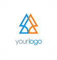 triangle abstract colored logo vector image