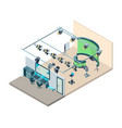 tv studio interior television production room vector image