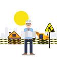 under construction worker engineer vector image