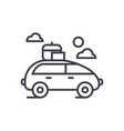 vehicle travel family car line icon sign vector image