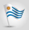 waving simple triangle uruguayan flag vector image vector image