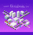 winter christmas landscape vector image
