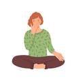 woman doing yoga flat young vector image vector image
