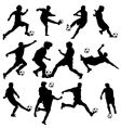 soccer silhouettes vector image