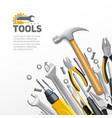 Carpenter Construction Tools Flat Composition vector image