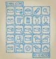 E-mail Icon Doodle Set vector image