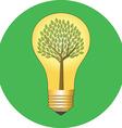 Go green eco concept Flat design Icon in green vector image