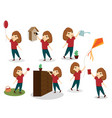 a set of images of children children play vector image vector image