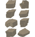 A set of stones cartoon vector image