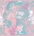 abstract floral graphic seamless pattern meadow vector image