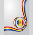 andorran flag wavy background vector image vector image