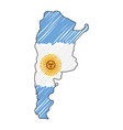 argentina map hand drawn sketch concept vector image vector image