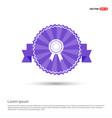 award medal icon - purple ribbon banner vector image