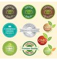 Badge Set of Certified organic Natural Fresh GMO vector image