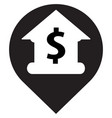 bank location icon vector image vector image