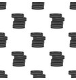 barricade from tires icon in black style isolated vector image vector image