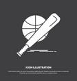 baseball basket ball game fun icon glyph symbol vector image vector image