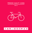 bicycle line icon graphic elements for your vector image vector image