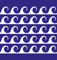 blue waves lines seamless greek pattern vector image vector image