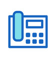 business phone filled line icon blue color vector image vector image
