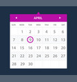calendar widget ui interface vector image