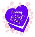 candy box sweetest day logo simple style vector image