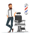cartoon style of barber vector image