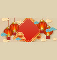 chinese new year festival decoration banner red vector image vector image