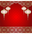 Chinese New Year Lantern Background vector image vector image